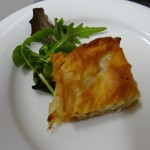 Duck & chick pea pastry